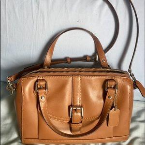 Like new Coach brown leather handbag